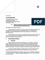 Letter from Apple to US representatives Markey and Barton on its Location-based services, July 12, 2010