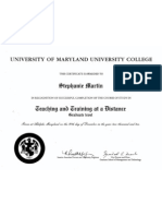 Teaching and Training Diploma