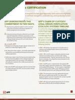 APP Certification Fact Sheet