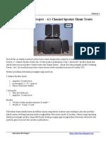 Electronic DIY Project-4.1 Chanel Speaker
