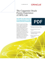 The Capgemini Oracle Fusion Experience COFE Lab