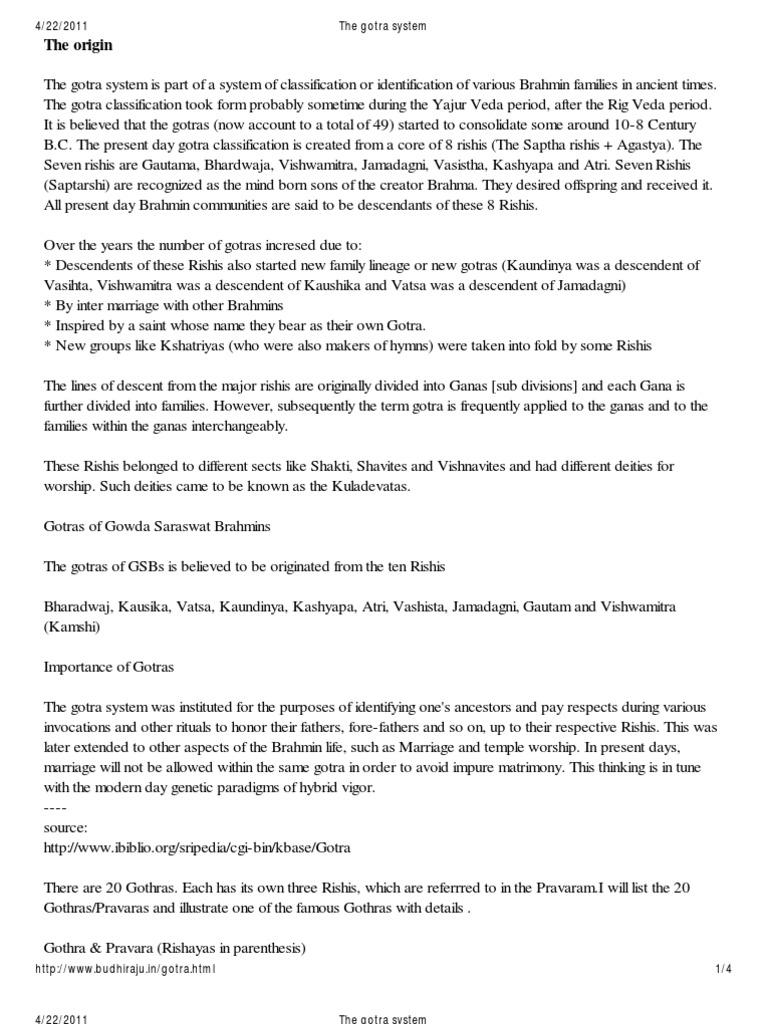 The Gotra System | Hindu Philosophy | Hindu Mythology