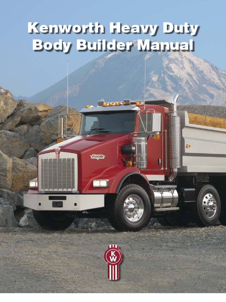 Kenworth T800 Body Builder Manual Various Owner Guide Fuse Box Ken Worth Heavy Duty Bodybuilder 1 Suspension Vehicle Rh Scribd Com 2010 Parts Illustration