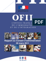 Rapport 2010 OFII Office Français Immigration Intégration - 29 mars 2011