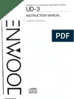Kenwood Ud3 Manual