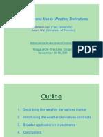 Nature & Weather Deriv