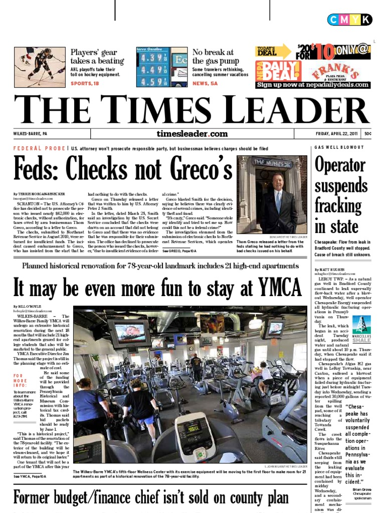 Times Leader 04-22-2011 | Scranton | Driving Under The Influence