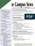 Campus News 4-22-11