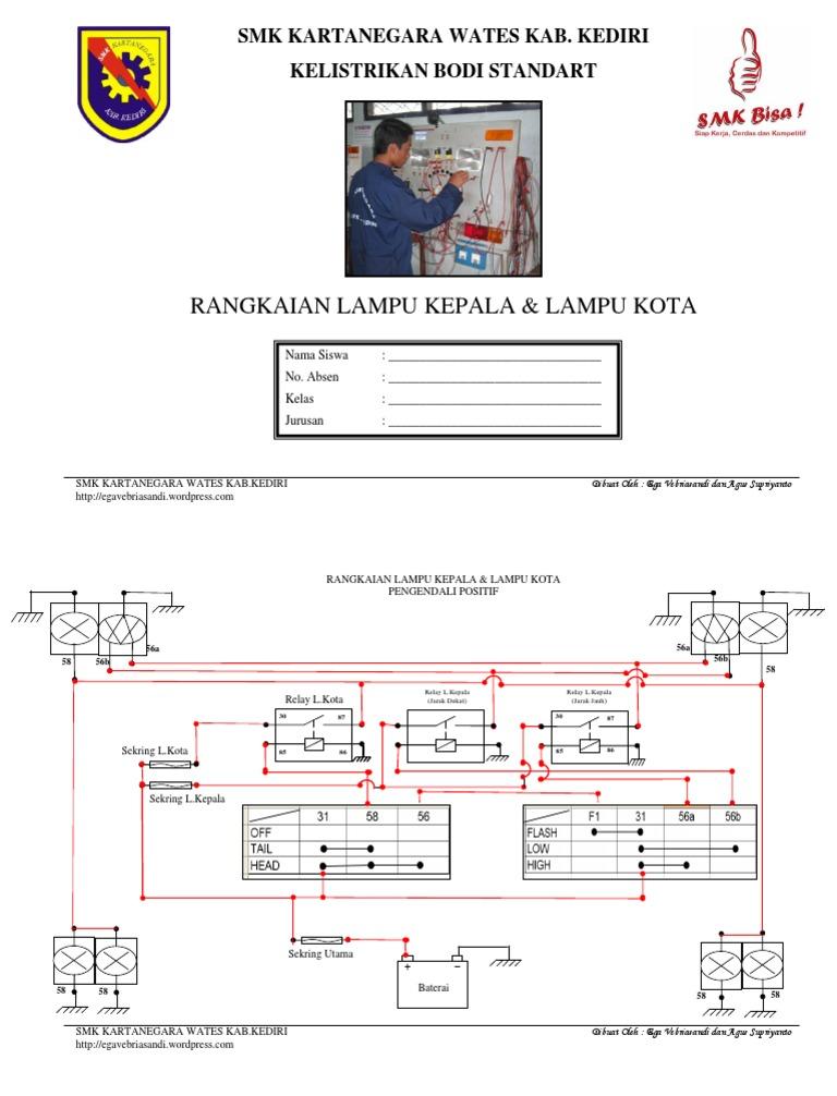 Gambarkan Wiring Diagram Rangkaian Kelistrikan Lampu Rem Somurich Com