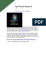 Cara Membuat System Image Di Windows 7
