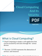 Cloud Computing and Its Security