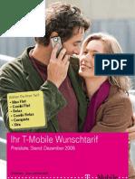 t Mobile Gesamtpreisliste Dezember 2009