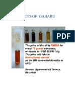 Gaharu Oil Extraction