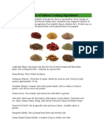 Glossary of Indian Cooking Ingredients