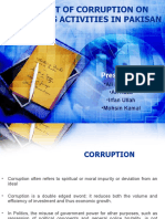 Impact of Corruption on Business Activities in Pakisan