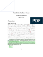 Text Study for Good Friday -- 2011