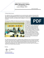 Letter of Recommendation From Lynn Haire, Principal of Miller Elementary