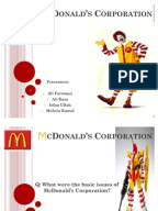 mcdonalds case study project managment Case study: an information system management model vladimir šimović matija varga predrag oreški article info: management information systems, vol 7 (2012), no 1.
