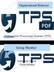 Organization behavior of transaction processing system
