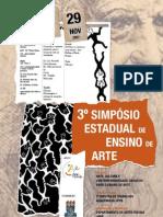 3SimposioEstadualdeEnsinodeArte-Cartaz  Pro autoria Getúlio Martins