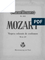 Mozart - Vespers K. 339