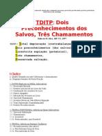 TDITP  Dois Preconhecimentos dos Salvos, Três Chamamentos  S.SCRIP.