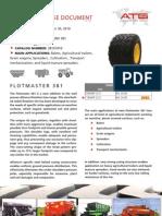 Alliance Flotmaster 381 Product Specs.