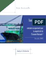 Transport maritime au Maroc_ contrainte ou opportunité pour la compétitivité de l'Economie Nationale