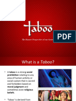 Taboo - The bizzare perspective of our society