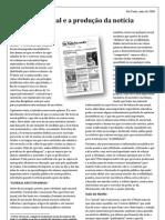 Um Jornal e a produção da notícia