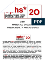 cphs Marshall England Awards Gala 2011
