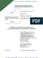 Statement of Facts - Kimmett v Corbett et al - Pennsylvania Corbett Case Fraud Waste Wrongdoing