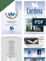April 24, 2011 Cordova Church Bulletin