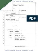 66 - Bellaman Deposition Excerpts - Pennsylvania Corbett Case Fraud Waste Wrongdoing