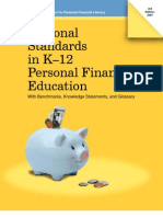 National Standards in K12 Personal Finance Education