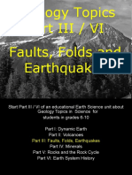 Geology Topics Unit Part III/V Earthquakes for Educators - Download at www. science powerpoint .com