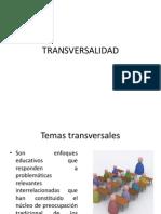 presentación de TRANSVERSALIDAD
