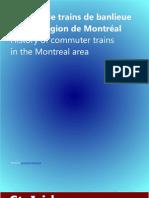 Histoire de trains de banlieue dans la région de Montréal * History of commuter trains in the Montreal area