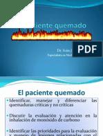El paciente quemado