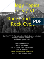 Geology Topics Unit Part V/V Rocks for Educators - Download at www. science powerpoint .com
