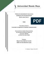 Sistema de automatización de procesos academicos de la escuela primaria Benito Juarez