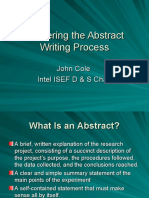 Mastering the Abstract Writing Process