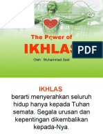 The Power of IKHLAS