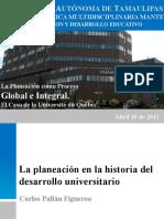 La Planeacion Como Proceso Global e Integral, Caso de La Universite Du Quebec.