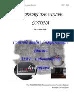 Contrôle qualité / Département Filature TIAF