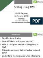Auto Scaling Using Amazon Web Services