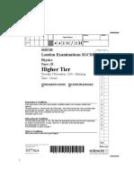 IGCSE Physics Paper 4420 2H Que 20101109