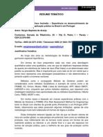 Resumo Congresso Luso-brasileiro 2
