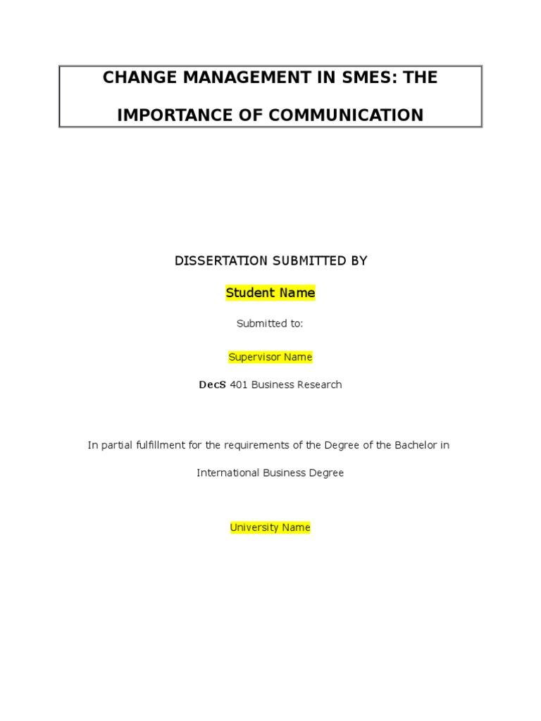 management dissertation topics