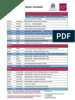 2011 MBS Academic Calendar 2011